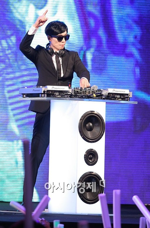 Mc Yoo transforming into DJ Yoo #Runningman #YooJaesuk