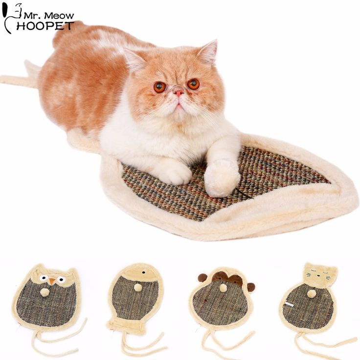 Lovely Shape Cartoon Animal Shaped Blanket Shape Catlike Toys Cat Claws Grinding Mat Resistant Bite