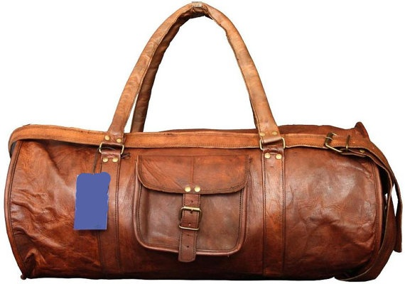 24x11x11 Leather duffel bag  Leather Weekend by GenuineGoods786, $109.00