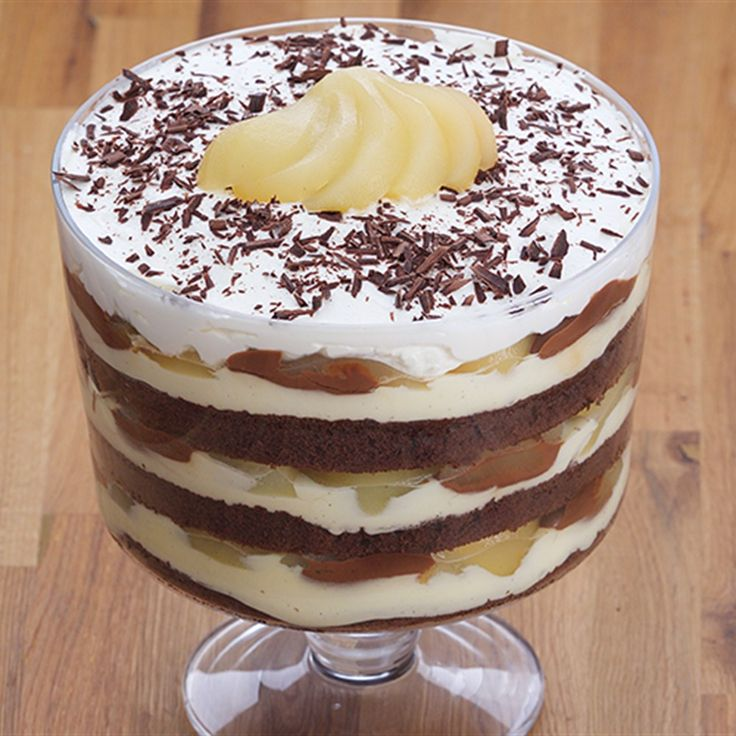 Try this Double Chocolate Pear Trifle recipe by Chef Anna Olson. This recipe is from the show Bake With Anna.