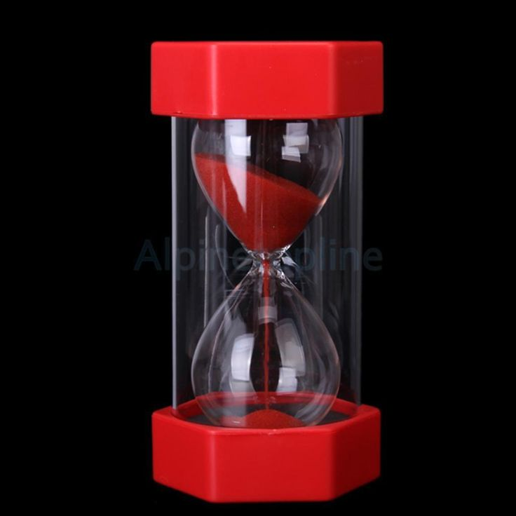 1Pc Security Fashion Hourglass Sandglass 30 Minutes Red Sand Clock Timer