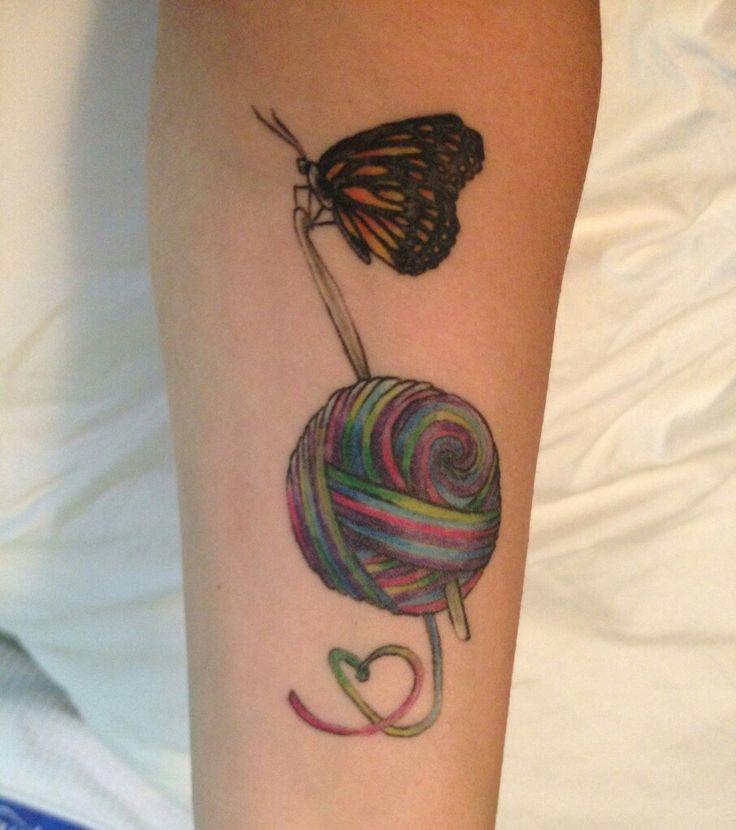 Knitting Tattoo Ideas : Best crochet tattoos images on pinterest