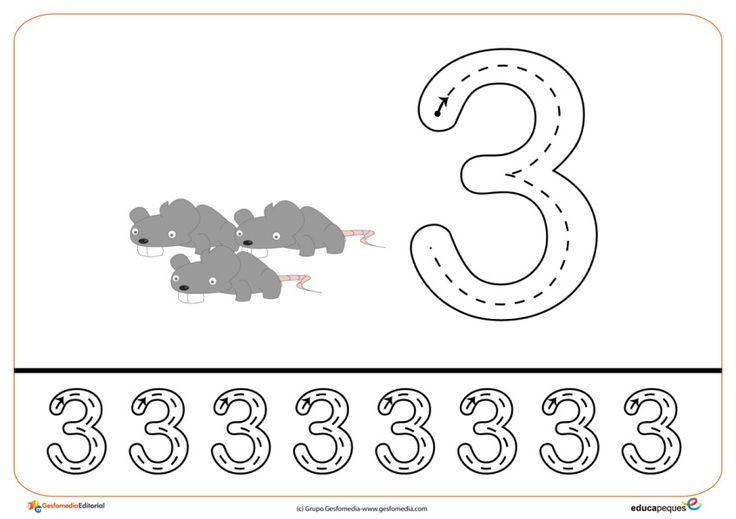 07grafomotricidad numeros | El Portal de Educapeques