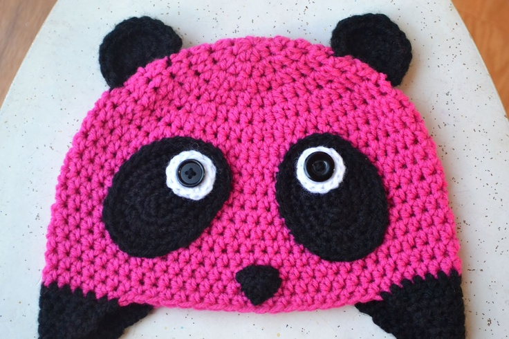 The Pink Panda hat, free pattern from Crochet in Color...should I make it in ...
