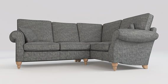 Buy Ashford Corner Sofa Right Hand Seats Boucle Weave Dark - Ashford sofa