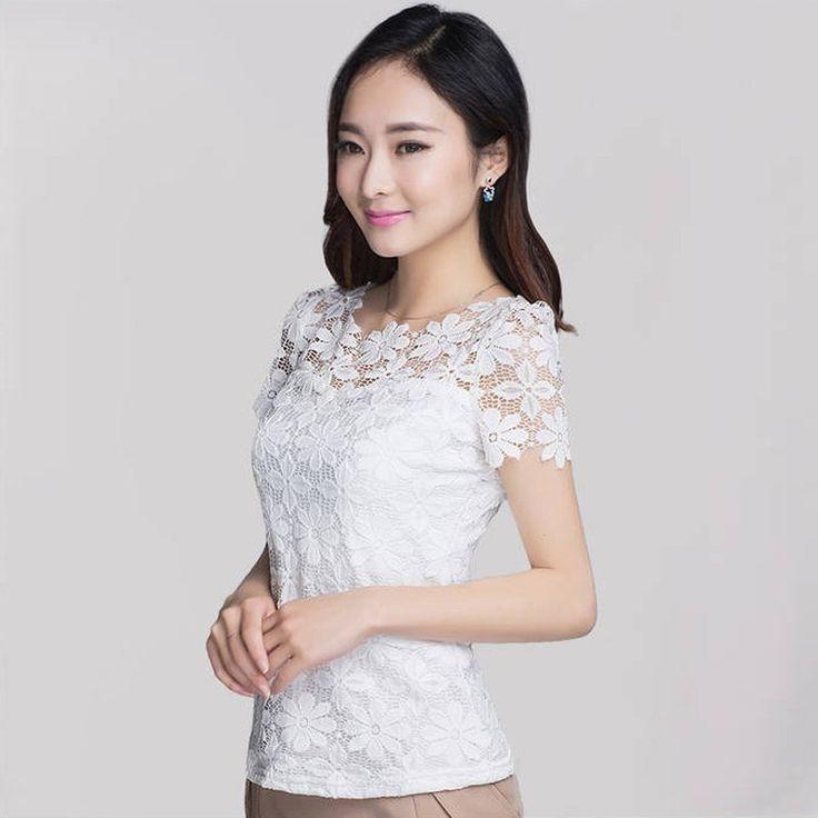 Elegant Floral Lace Blouse