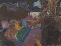 Zdeněk Sýkora, Černá zahrada, 1958, olej, plátno, 60 x 80 cm