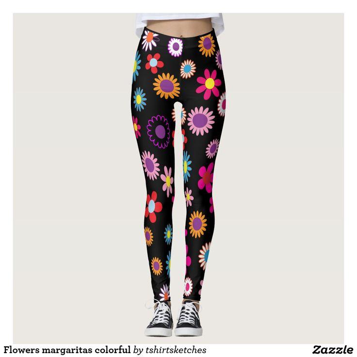 #Flowers #margaritas #colourful #legging, #daizy