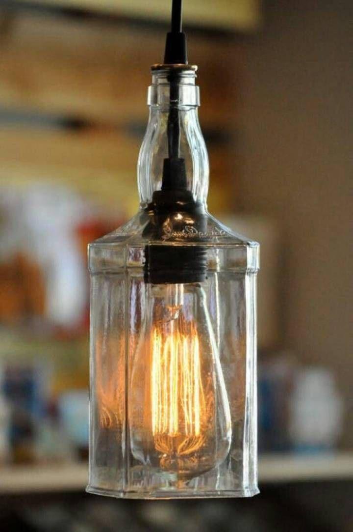"""Encontrá Botella de """"Jack Daniells"""" para Luz desde $10. Iluminación y más objetos únicos recuperados en MercadoLimbo.com. http://www.mercadolimbo.com/producto/89/botella-de-jack-daniells-para-luz"""