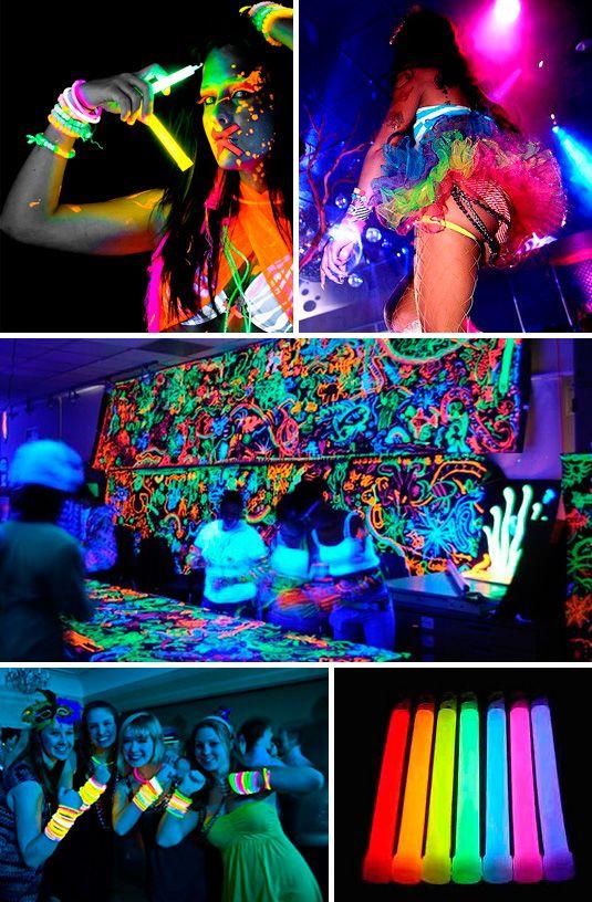 decoracao festa glow:Quinceanera Fiesta Loca