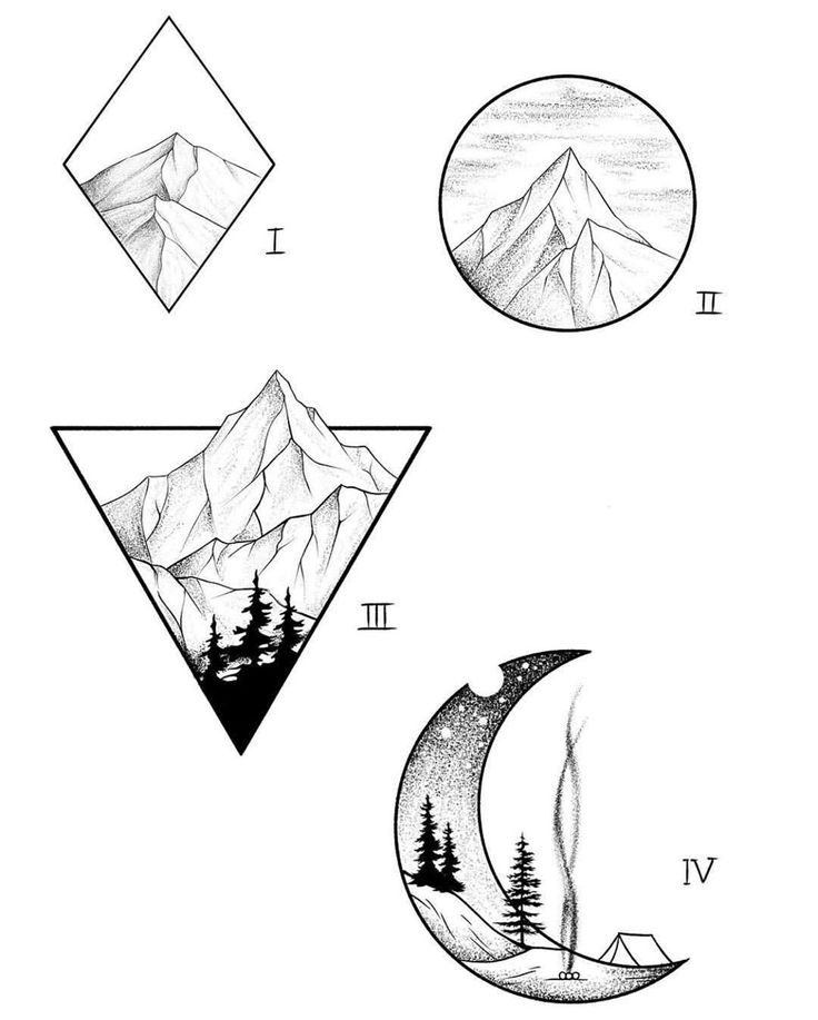 Pin by Blaire Hoeme on tattoo Geometric mountain tattoo