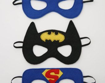 Supergirl Bat Girl Batman Masks Spiderman Iron Man super hero