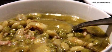 """La 'NGRECCIATA. Questo è un piatto tradizionalmente primaverile visto l'utilizzo delle fave fresche e tipico della Val Vibrata che si trova in provincia di Teramo. In regioni limitrofe questo piatto è chiamato anche """"vignarola""""."""