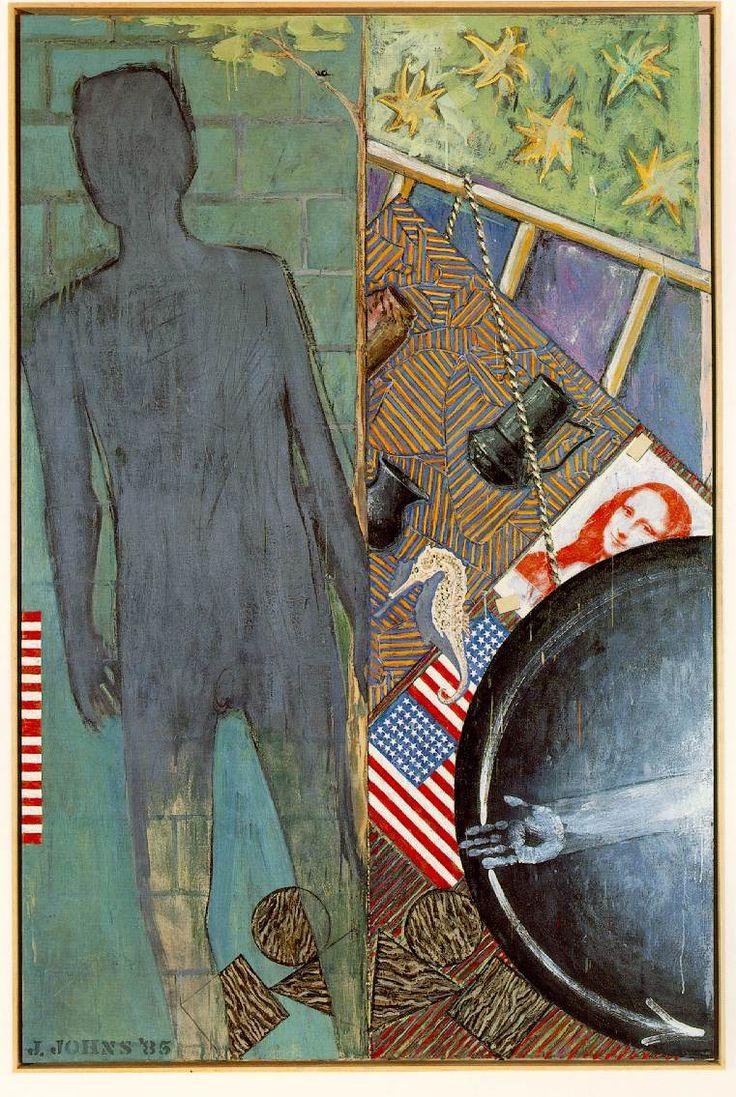 "JOHNS, Jasper Summer 1985 Encaustic on canvas 190.5 x 127 cm (75 x 50"") Collection Philip Johnson"