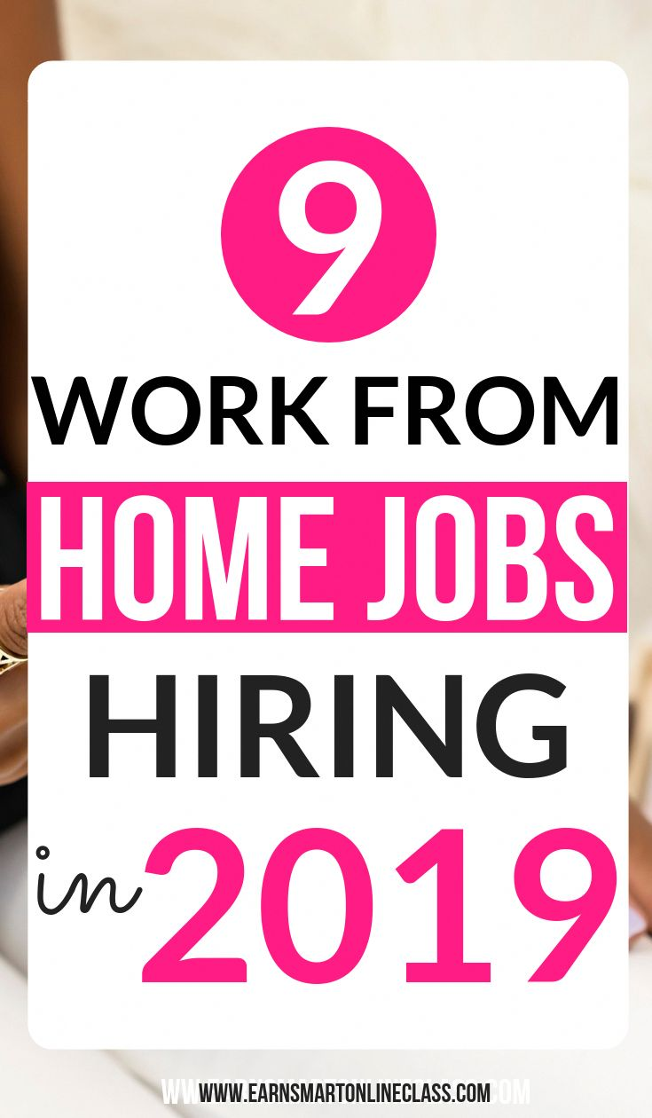 Looking for the latest work from home jobs get 9 work