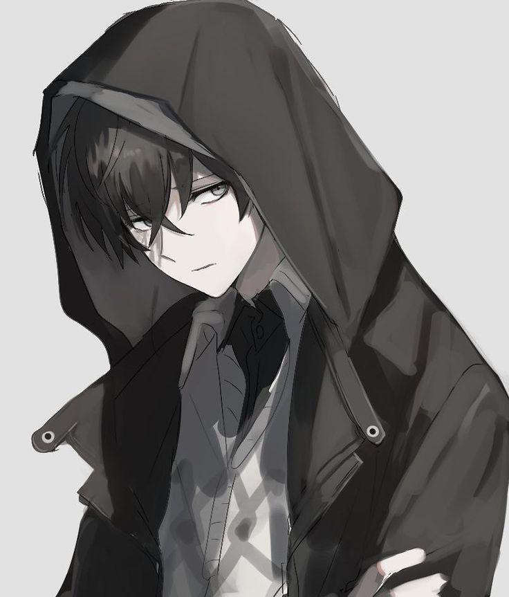 Картинки парень в плаще аниме