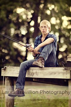 senior portraits with fishing theme - Google Search