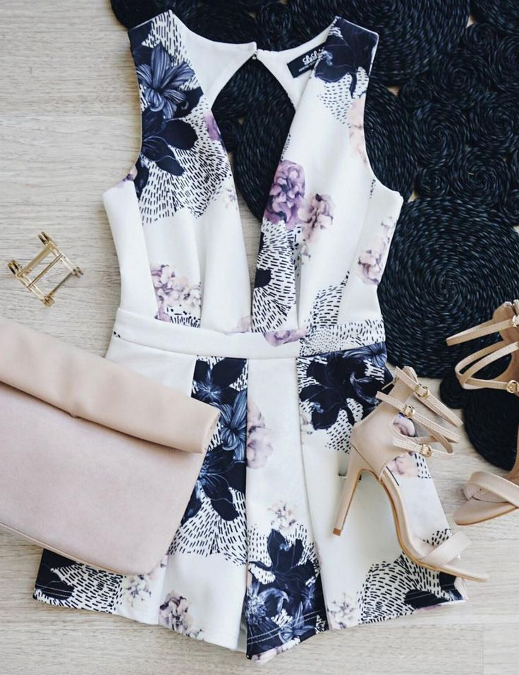 This would be the only romper and floral I could probably pull off.