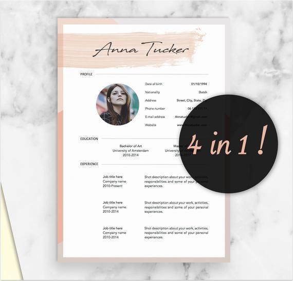 4 Page Modern Resume Template Cv Template Professional And Creative Resume Teacher Resume Word Resume Instant Download Moderner Lebenslauf Lebenslauf Lebenslauf Design
