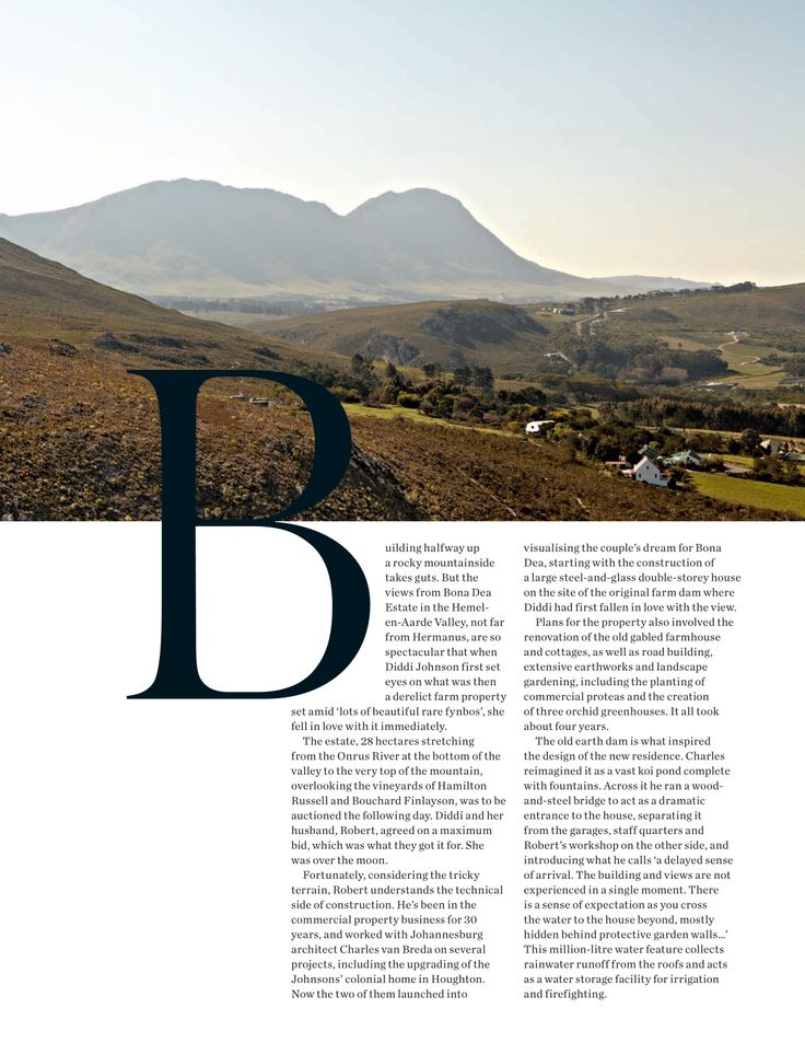 House and Leisure, 'Mountain Magic', Issue 230 October 2013 pg 02 - Charles van Breda Architects