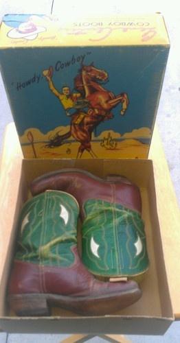 Antique Gene Autry Cowboy Boots RARE Collectible