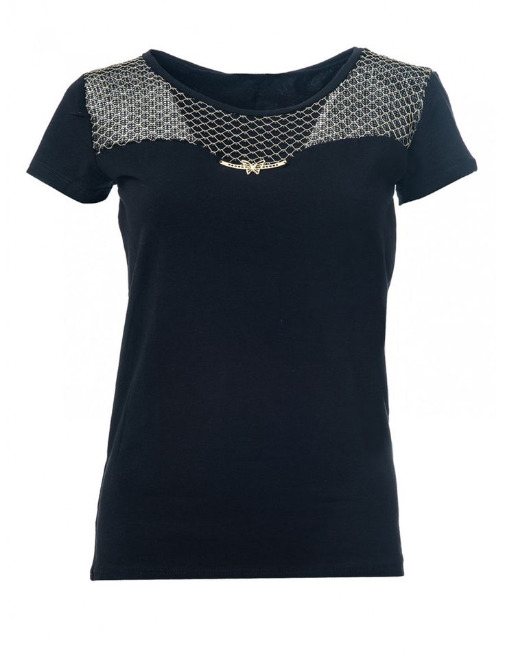 Camiseta Negra Mujer T505 - Camisetas y Tops - Ropa