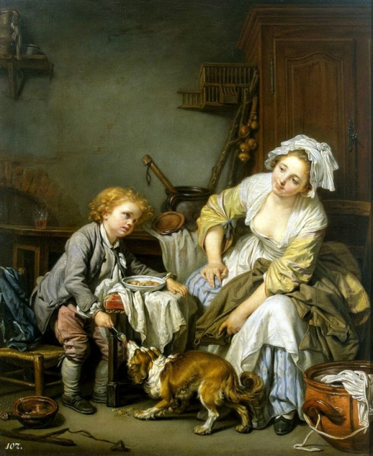 THE SPOILED CHILD, BY JEAN BAPTISTE GREUZE
