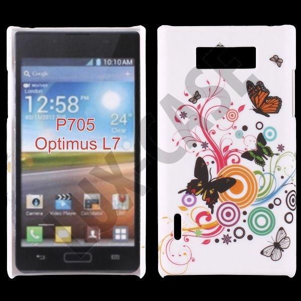 Valentine (Colourful Butterflies) LG Optimus L7 Deksel