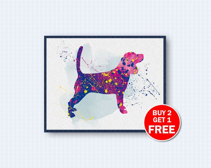 Beagle Poster, Beagle Watercolor, Dog Watercolor, Dog Poster, Watercolor Art, Animal, Wall Decor, Home Decor by TheWoodenKat on Etsy