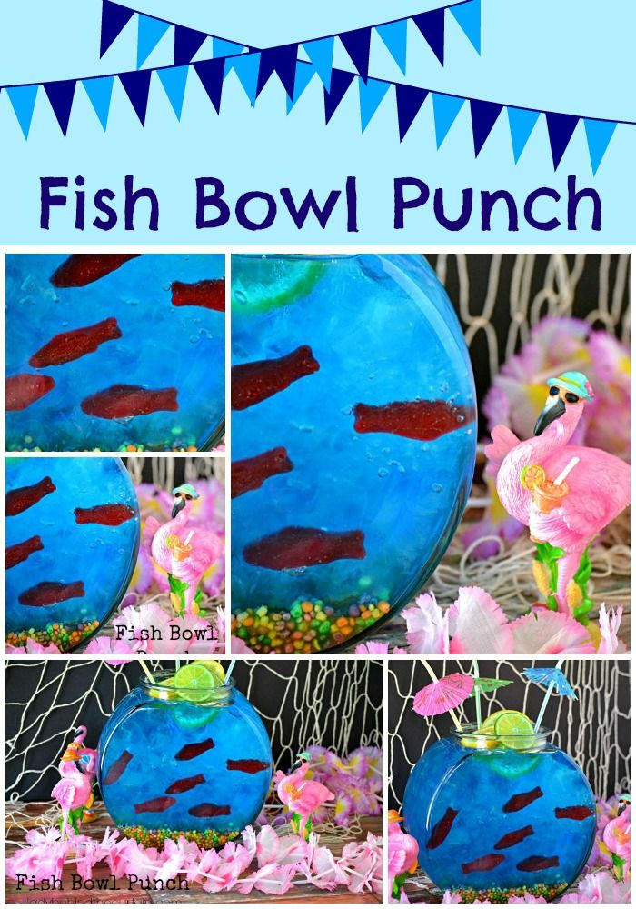 How much fun is this Fish Bowl Punch?!?  It may look complicated but it is SUPER easy.  Lady Behind The Curtain