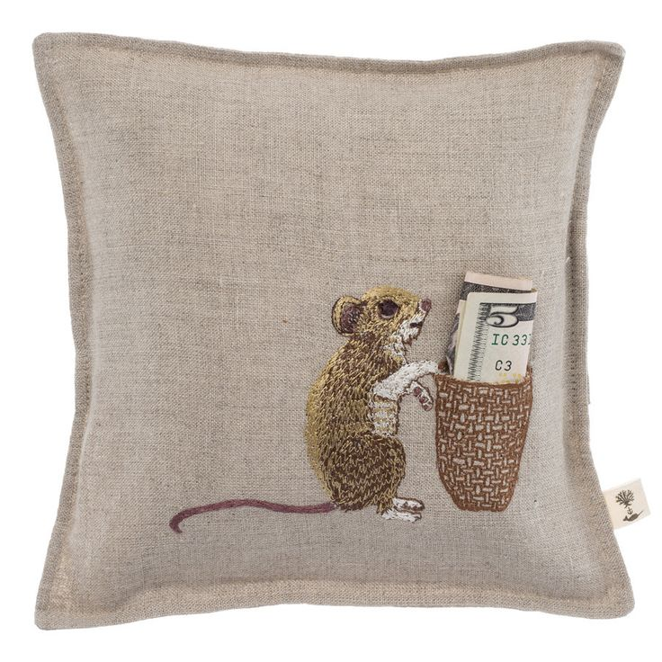 Coral and Tusk - mouse tooth fairy pillow