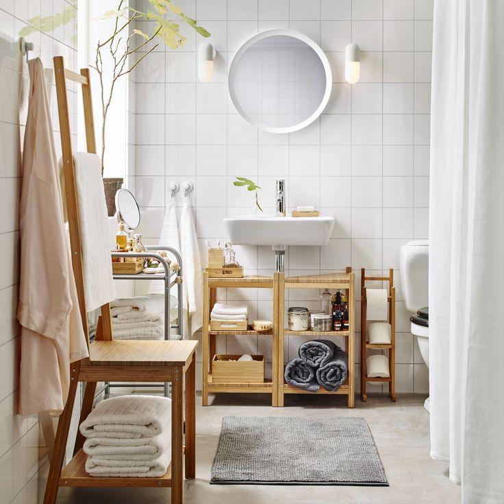 Badkamer Romantisch Maken ~   IKEA #IKEAnl #inspiratie #wooninspiratie #badkamer #bamboe #