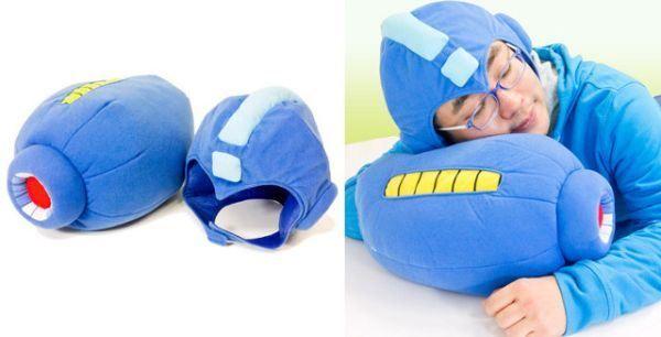 Mega Man Arm Blaster Pillow + Helmet