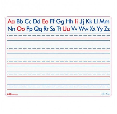 Dry Erase Letter / Blank Board Set of 30 - BARGAIN! The alphabet with the vowels colour coded and lined especially for those learning to write!