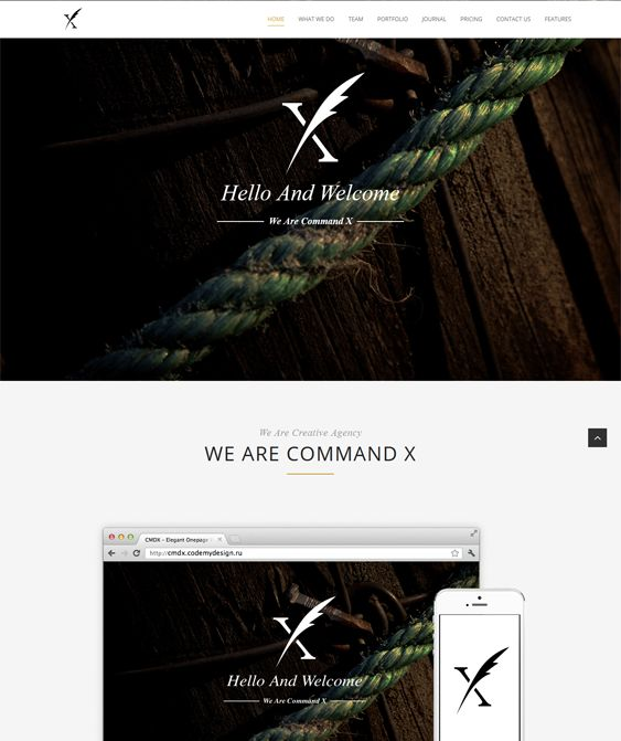 CMDX is clean, responsive WordPress with multiple parallax backgrounds. It also includes Revolution slider, portfolio pages, infinite color options, and more.
