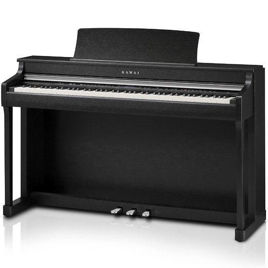 Piano+Numérique+Droit+Noir+Responsive+Hammer+Action+3+-+Kawai+CN35