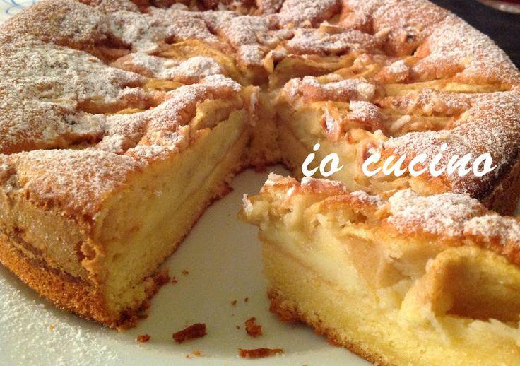 Chi vuole un pezzo di #tortadimele e #cremapasticcera ? Buona domenica a tutti da #iocucino - Io Cucino - Google+