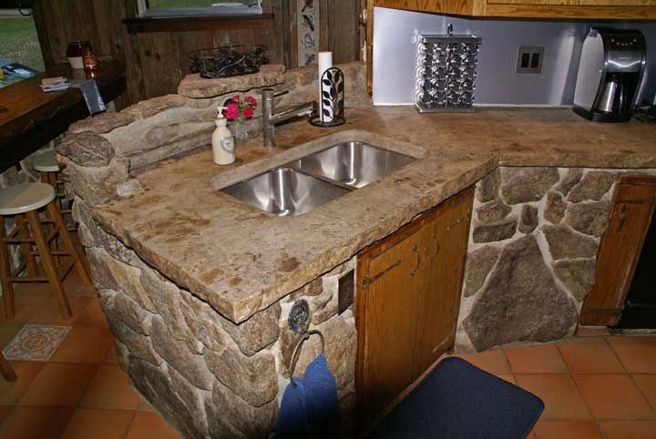 15 best stained concrete countertop ideas images on for Concrete kitchen countertops reviews