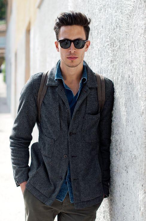 thelocals.dk: Men Clothing, Hair Doe, Men Style, Street Style, Denim Shirts, Men Fashion, Fashion Blog, Style Fashion