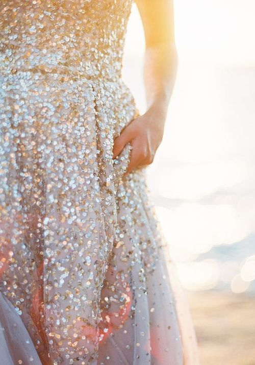 a glittery dress for New Year's