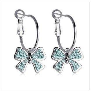 Aliexpress.com : Buy (Min.order $15 Free Shipping)New 2013 Bow. Butterfly  EarringsRhinestone EarringsStud ...