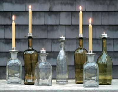 Bottelabra turns any bottle into a beautiful taper or tealight candle $12.50 each