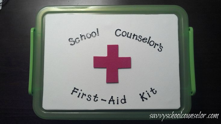 School Counselor's First Aid Kit: Helps elementary school kiddos understand the different roles of the school counselor.