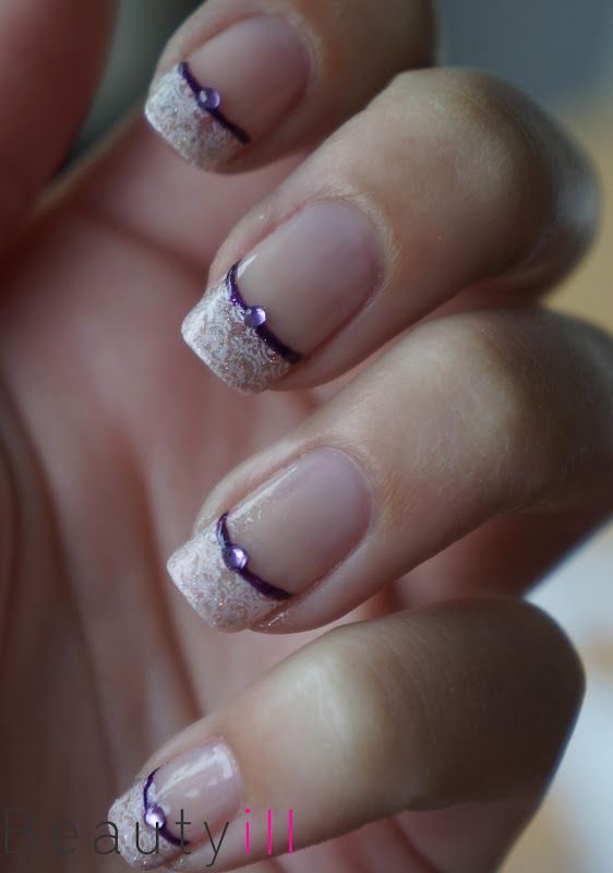 DIY Purple French Manicure - Beautyill