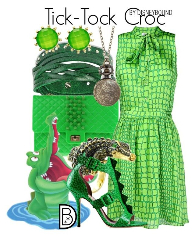 """Tick-Tock Croc"" by leslieakay ❤ liked on Polyvore featuring West Coast Jewelry, 2 Di Picche Recycled, Moschino Cheap & Chic, CZ by Kenneth Jay Lane, Style & Co., disney, disneybound and disneycharacter"