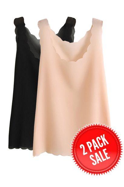 Dwie eleganckie szyfonowe bluzki / Elegant Lacy Sleeveless Vest