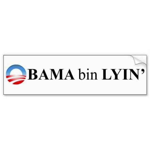 Obama bin lyin bumper stickers
