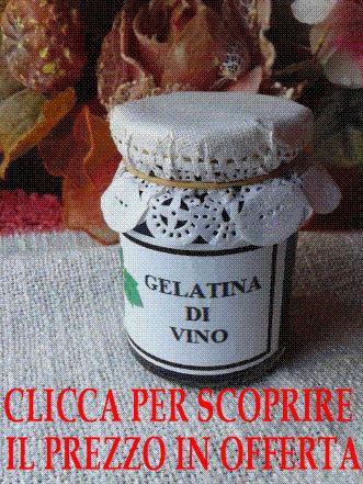 La Gelatina di Vino è ideale per essere accompagnata a formaggi stagionati dal pecorino al parmigiano. Confezione da 106 g OFFERTA SPECIALE € 6,60 IVA INCLUSA
