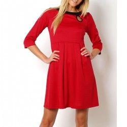 Drapowana czerwona sukienka
