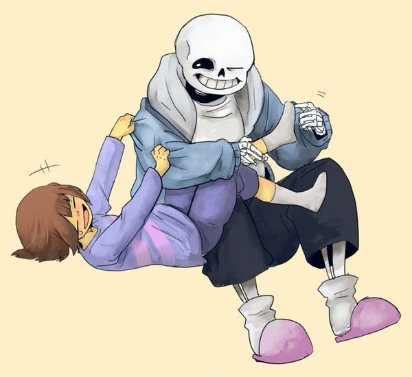 Sans said that's pathetic because he can't feeling the
